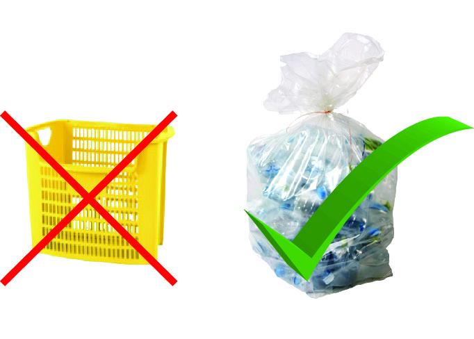 Arrêt de la collecte des emballages en caissettes jaunes
