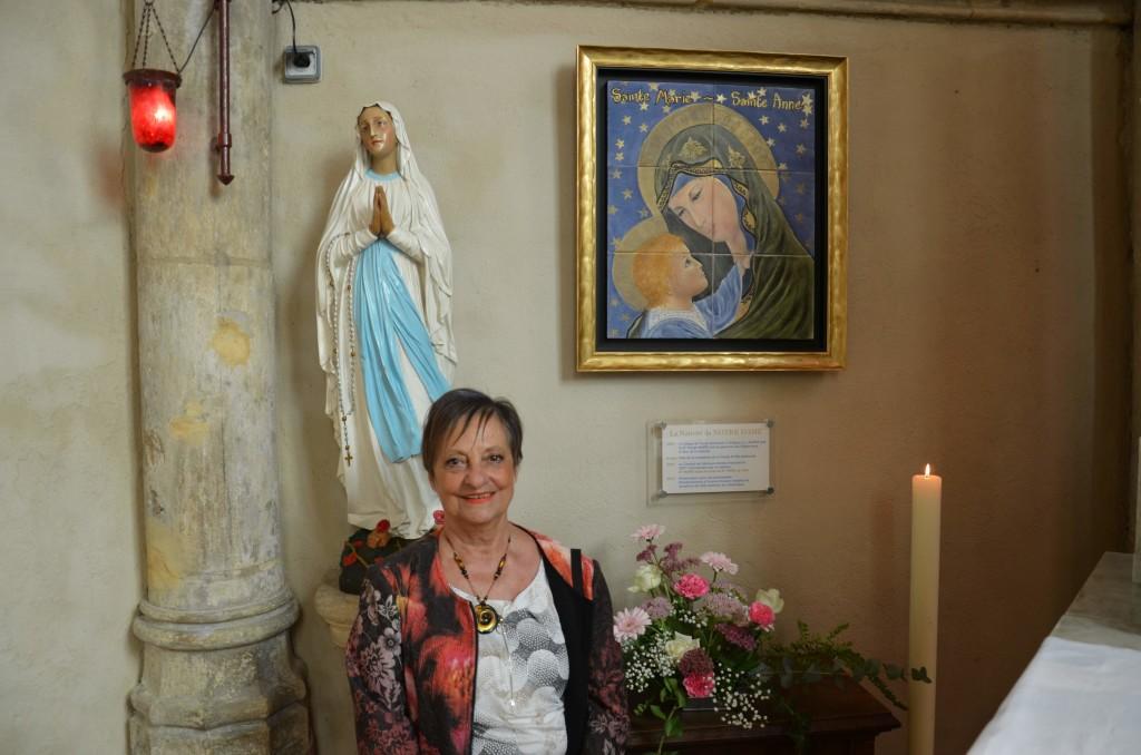 Inauguration du tableau à l'église de la Nativité de Notre Dame